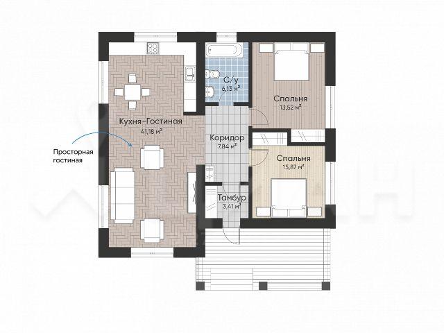 План дом 104 кв.м.